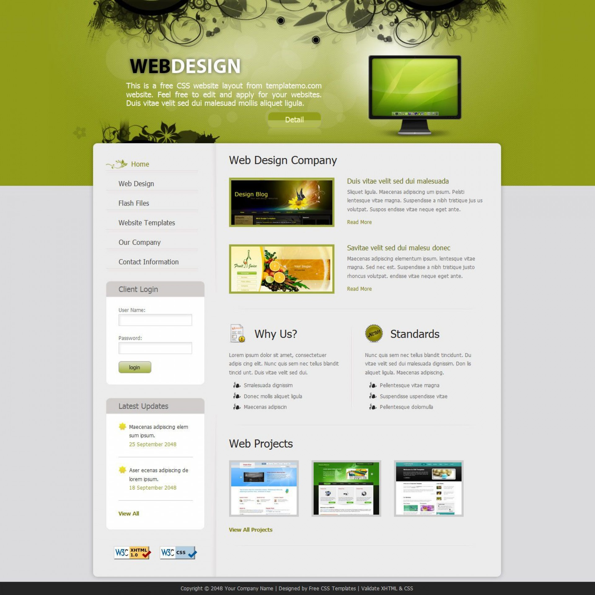 008 Fearsome Free Cs Professional Website Template Download Idea  Html With Jquery1920