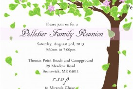 008 Fearsome Free Downloadable Family Reunion Flyer Template High Def