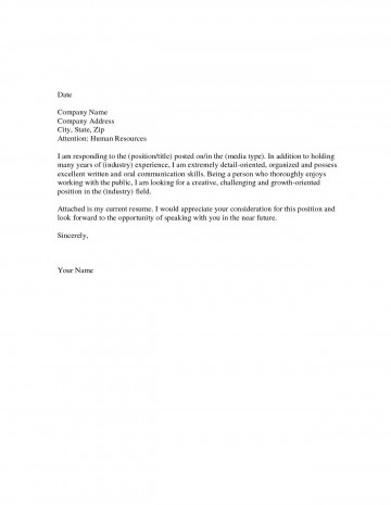 008 Fearsome Generic Cover Letter For Resume High Def  General Example360