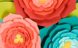 008 Fearsome Giant Paper Flower Template Free Download Sample
