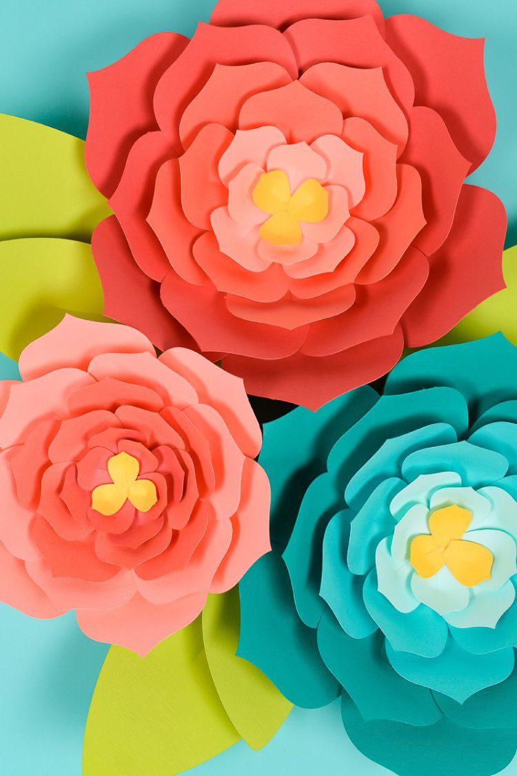 008 Fearsome Giant Paper Flower Template Free Download Sample Full