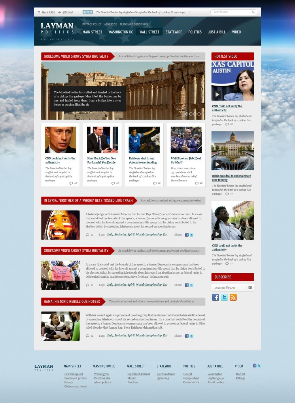 008 Fearsome Government Website Html Template Free Download Design  With CsLarge