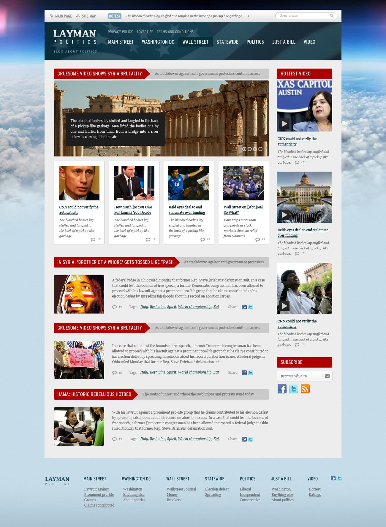 008 Fearsome Government Website Html Template Free Download Design  With CsFull