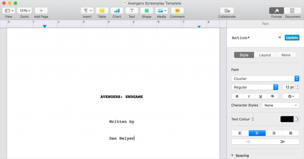 008 Fearsome How To Use Microsoft Word Screenplay Template Design Large