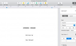 008 Fearsome How To Use Microsoft Word Screenplay Template Design