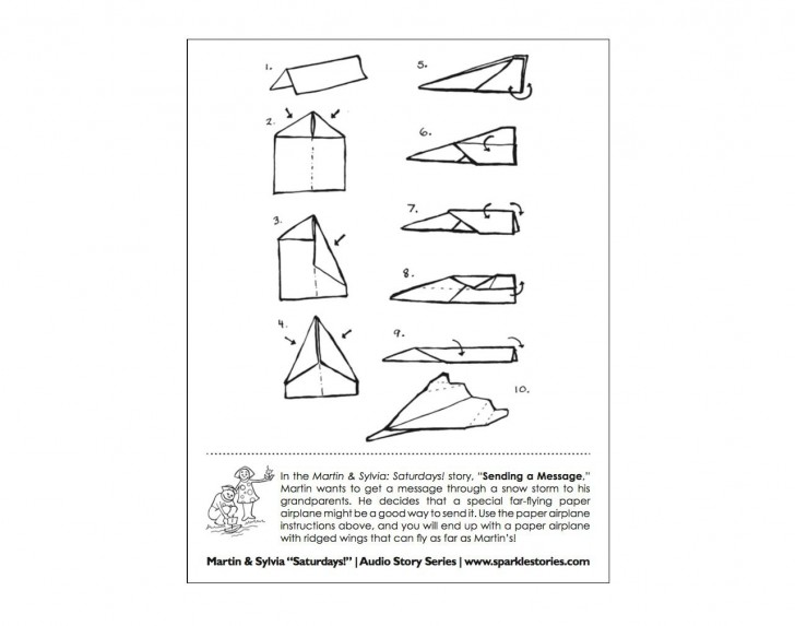 008 Fearsome Printable Paper Airplane Design High Definition  Free Instruction Pdf Simple A4 Plane728