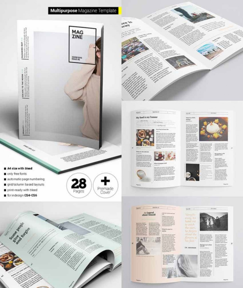 008 Fearsome School Magazine Layout Template Free Download High Definition Large