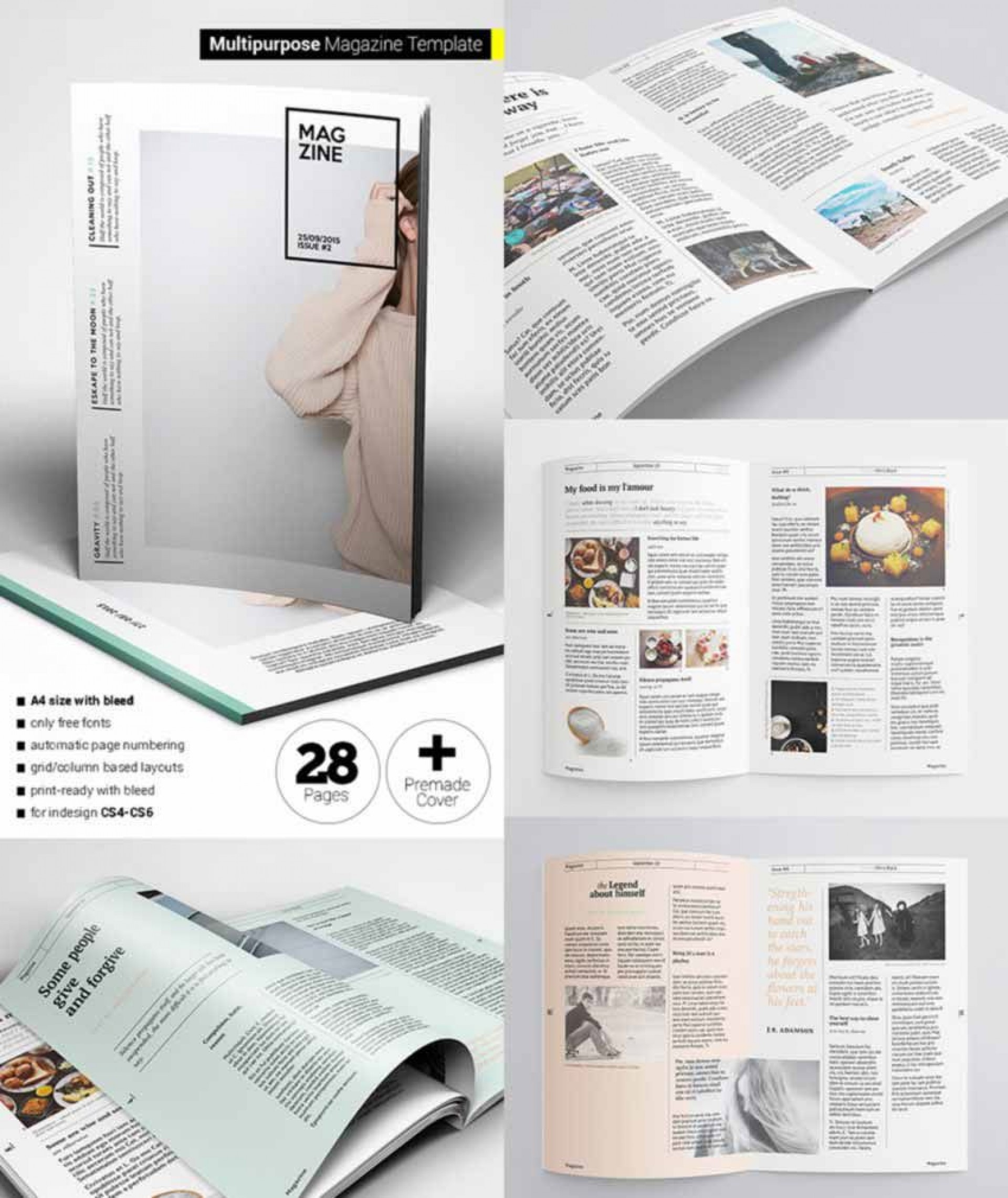 008 Fearsome School Magazine Layout Template Free Download High Definition 1920