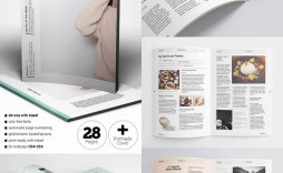 008 Fearsome School Magazine Layout Template Free Download High Definition