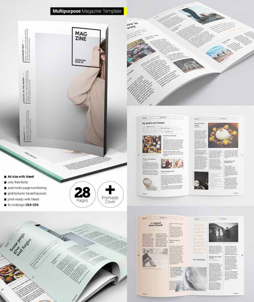 008 Fearsome School Magazine Layout Template Free Download High Definition Full