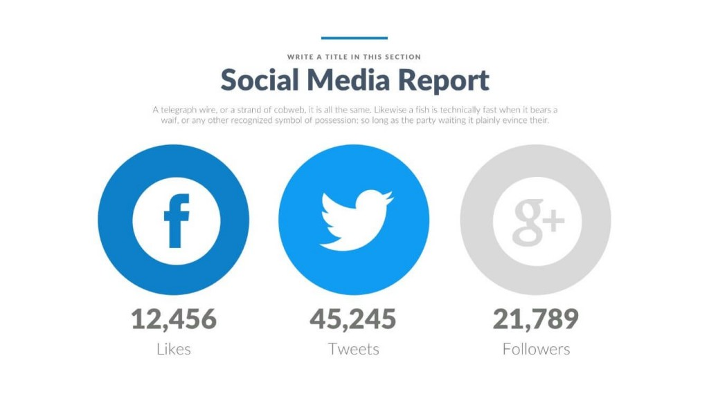 008 Fearsome Social Media Ppt Template Free Sample  Download Report PowerpointLarge