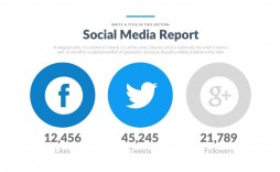 008 Fearsome Social Media Ppt Template Free Sample  Download Report Powerpoint