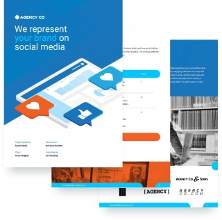 008 Fearsome Social Media Proposal Template High Definition  Plan Sample Pdf 2018320