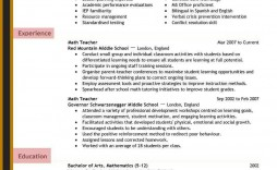 008 Fearsome Teacher Resume Sample Free Download Picture  Cv
