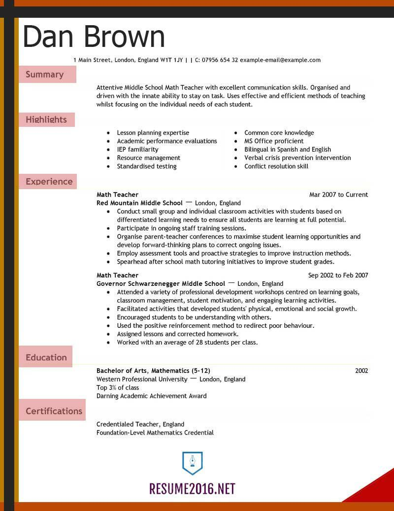 008 Fearsome Teacher Resume Sample Free Download Picture  CvFull