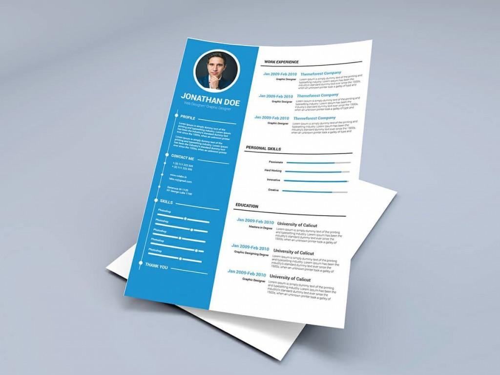 008 Fearsome Two Column Resume Template Word Photo  Cv Free MicrosoftLarge