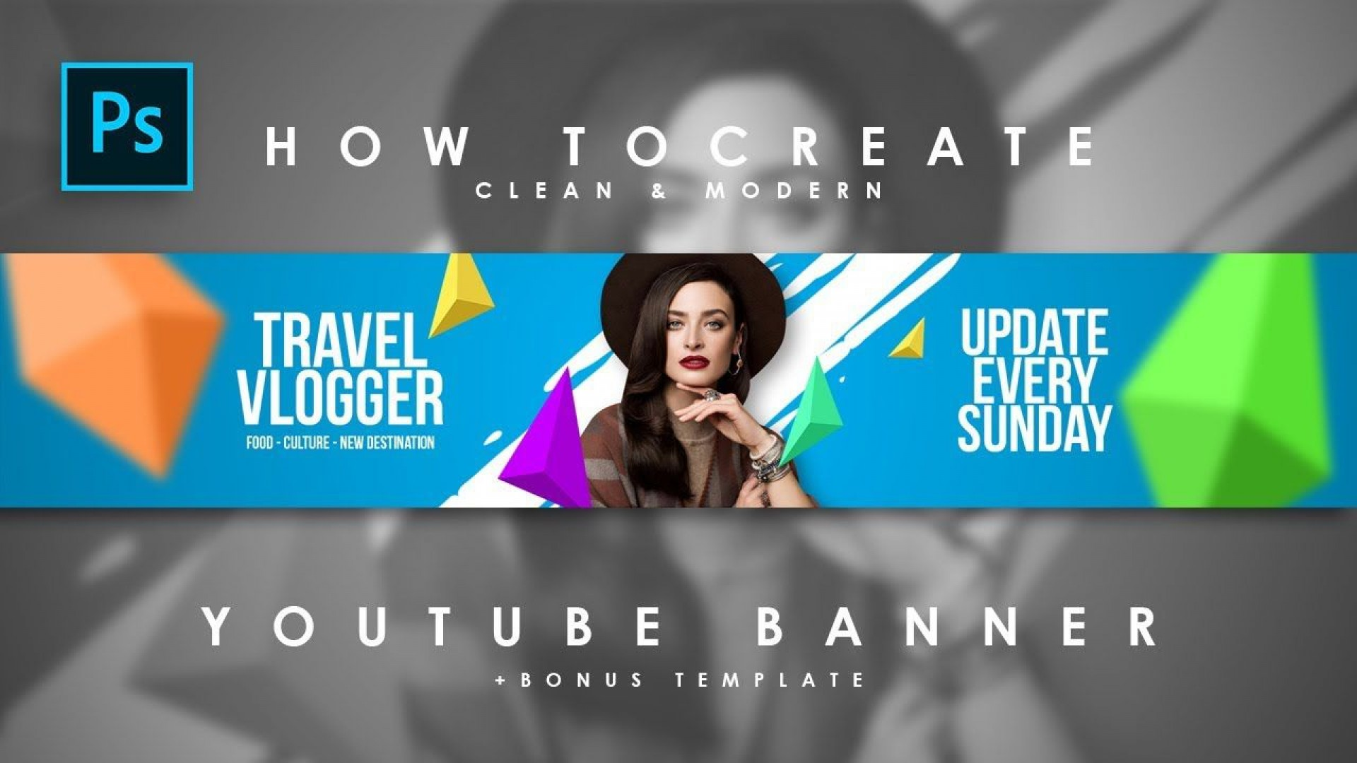 008 Fearsome Youtube Channel Art Template Photoshop Download Photo 1920