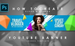 008 Fearsome Youtube Channel Art Template Photoshop Download Photo