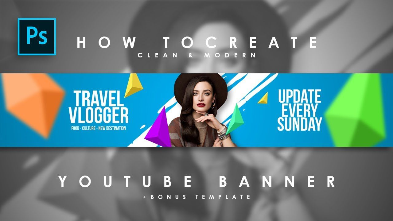 008 Fearsome Youtube Channel Art Template Photoshop Download Photo Full