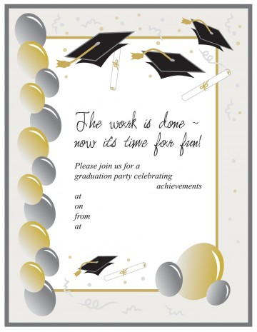 008 Formidable Free Printable Graduation Invitation Template Example  Party For Word360