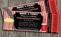 008 Formidable Free Printable Movie Ticket Birthday Party Invitation Highest Clarity  Invitations