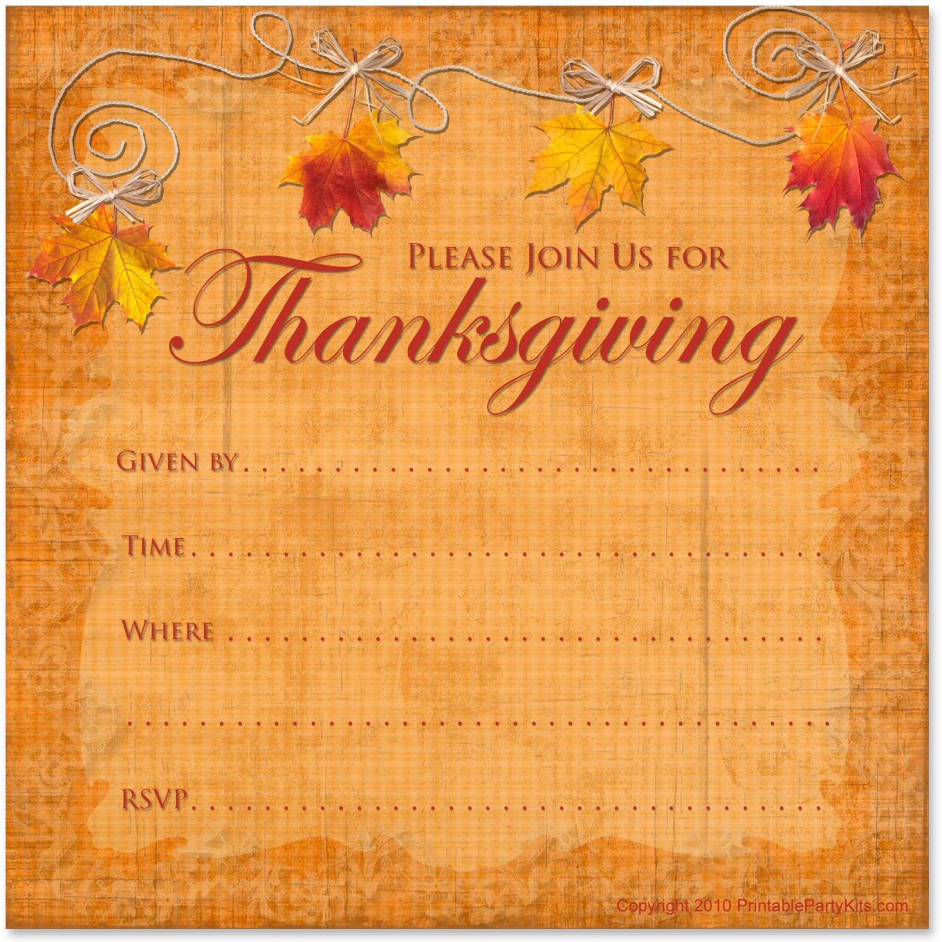 008 Formidable Free Thanksgiving Invitation Template Picture  Templates Printable Dinner Download Potluck1920