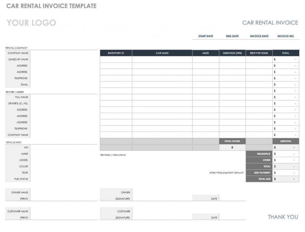 008 Formidable Microsoft Excel Auto Repair Invoice Template Picture Large