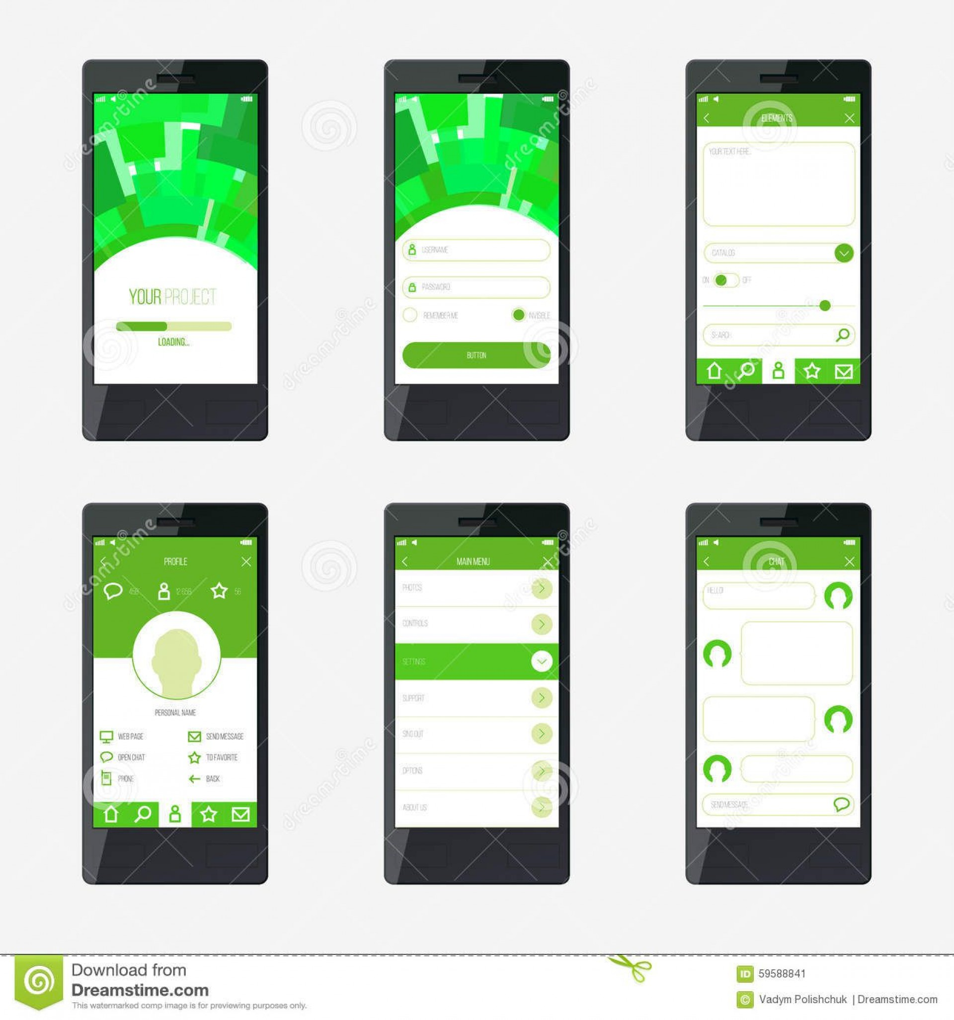 008 Formidable Mobile App Design Template Highest Clarity  Size Free Download Ui Psd1920
