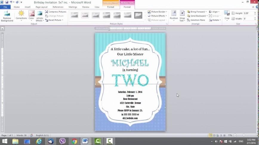 008 Formidable M Word Invitation Template Inspiration  Microsoft Birthday Card Wedding Free