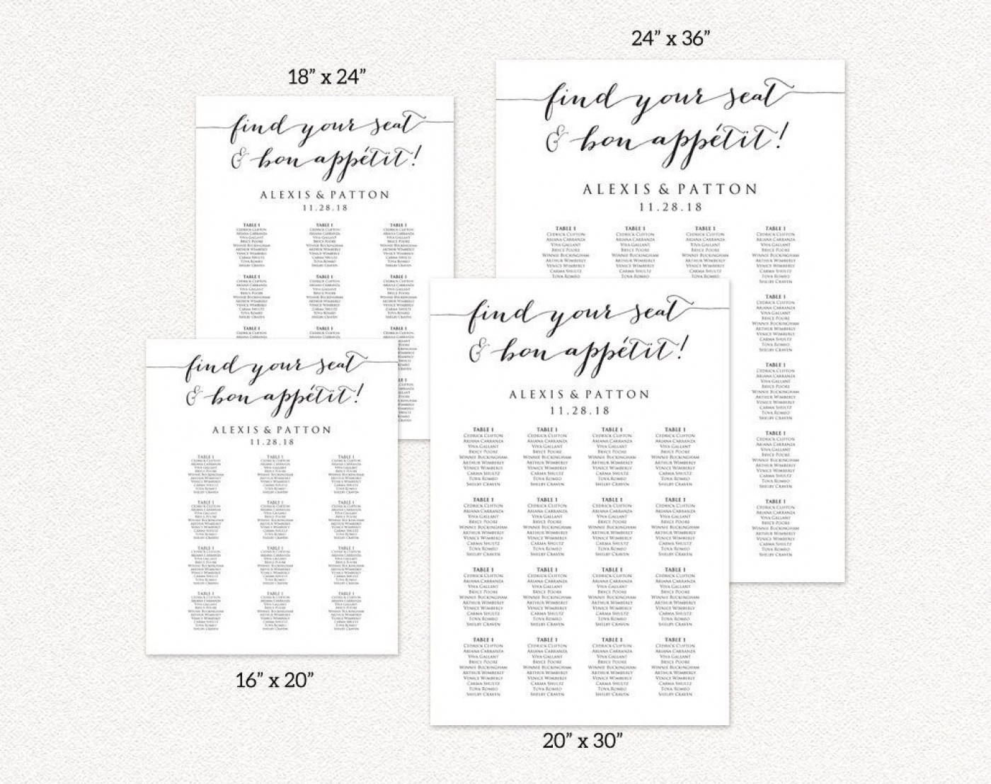 008 Formidable Seating Chart Wedding Template Idea  Alphabetical Word Table Plan1400