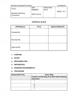 008 Formidable Standard Operating Procedure Template Word Picture  Microsoft (sop) Format Download320