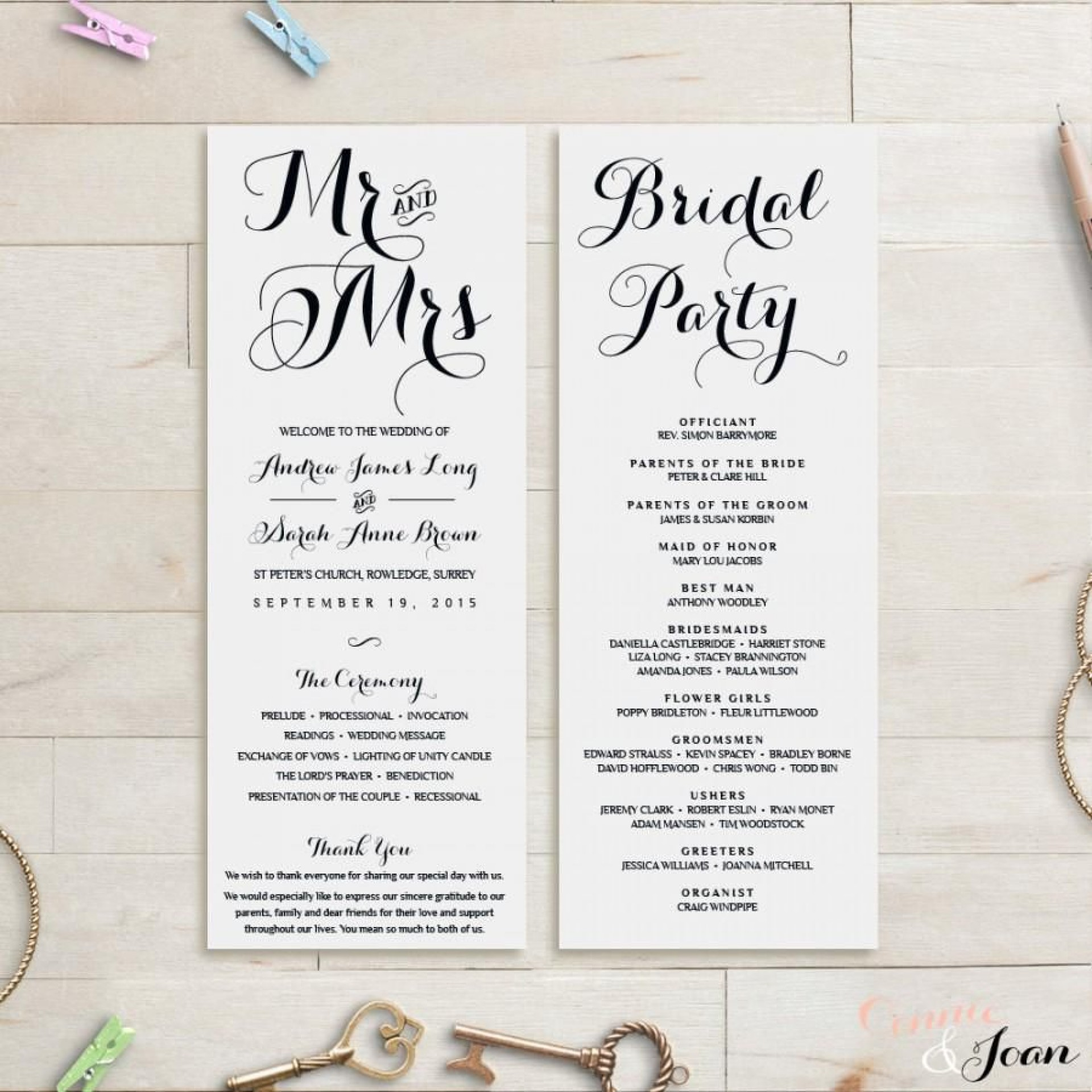 008 Formidable Wedding Order Of Service Template Concept  Pdf Publisher Microsoft Word1920