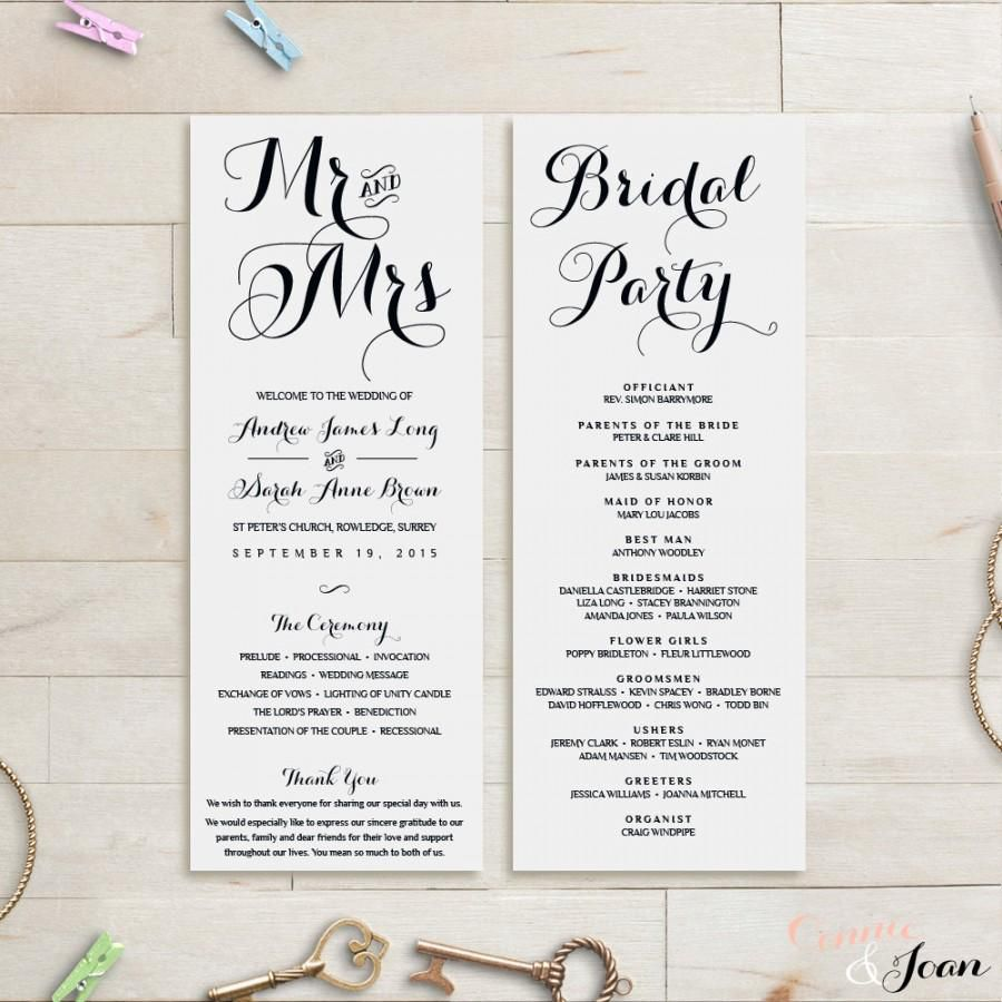 008 Formidable Wedding Order Of Service Template Concept  Pdf Publisher Microsoft WordFull
