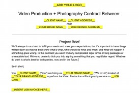008 Formidable Wedding Videography Contract Template High Definition  Pdf Example Word