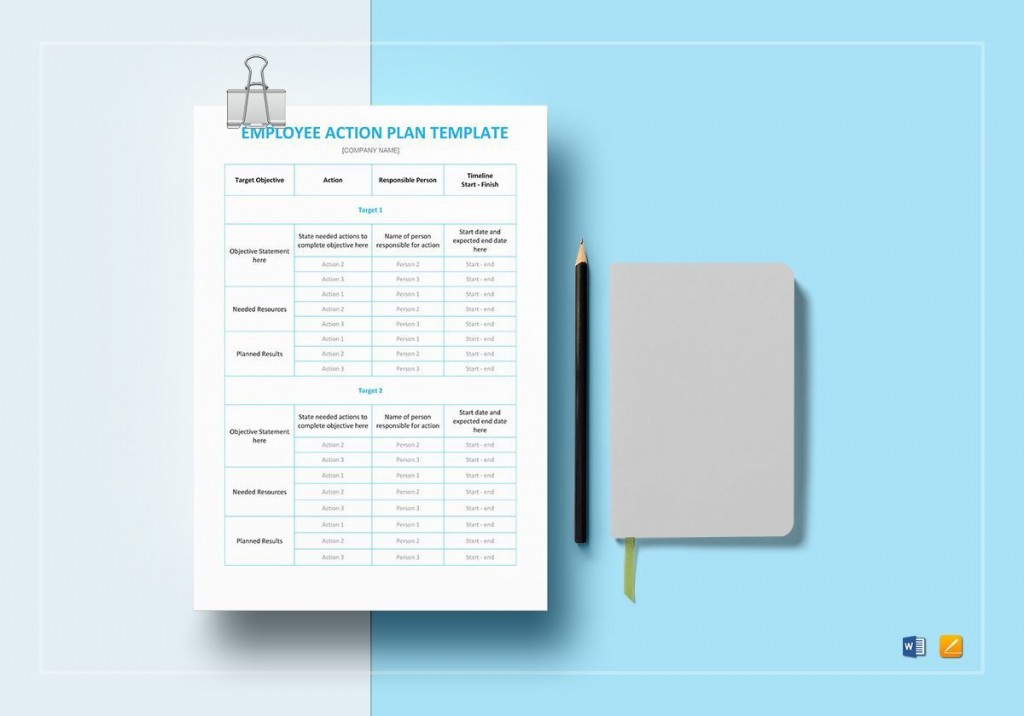 008 Frightening Action Plan Template Word High Resolution  Corrective Free Format SampleLarge