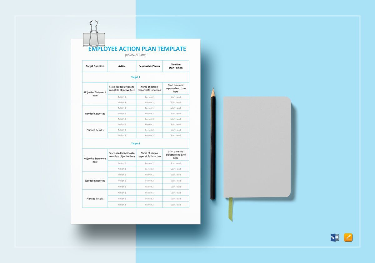 008 Frightening Action Plan Template Word High Resolution  Corrective Free Format SampleFull