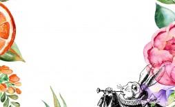 008 Frightening Alice In Wonderland Tea Party Template High Resolution  Templates Invitation Free