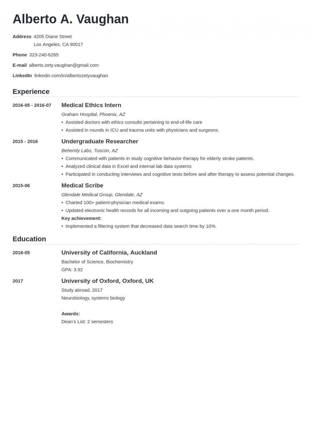 008 Frightening Curriculum Vitae Template Student High Def  Sample College Undergraduate Example For Research PaperLarge