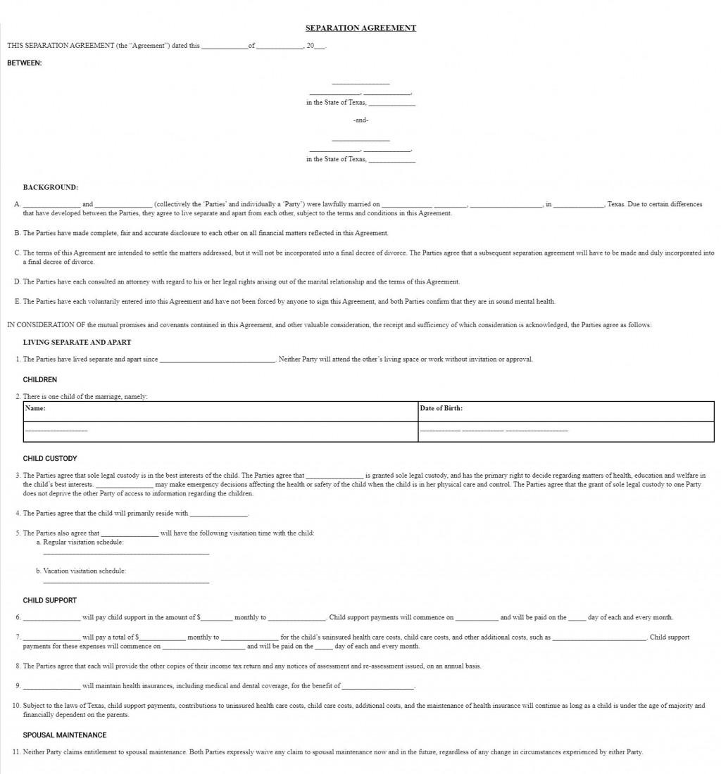 008 Frightening Divorce Settlement Agreement Template Highest Quality  Sample New York Marital Uk South AfricaLarge