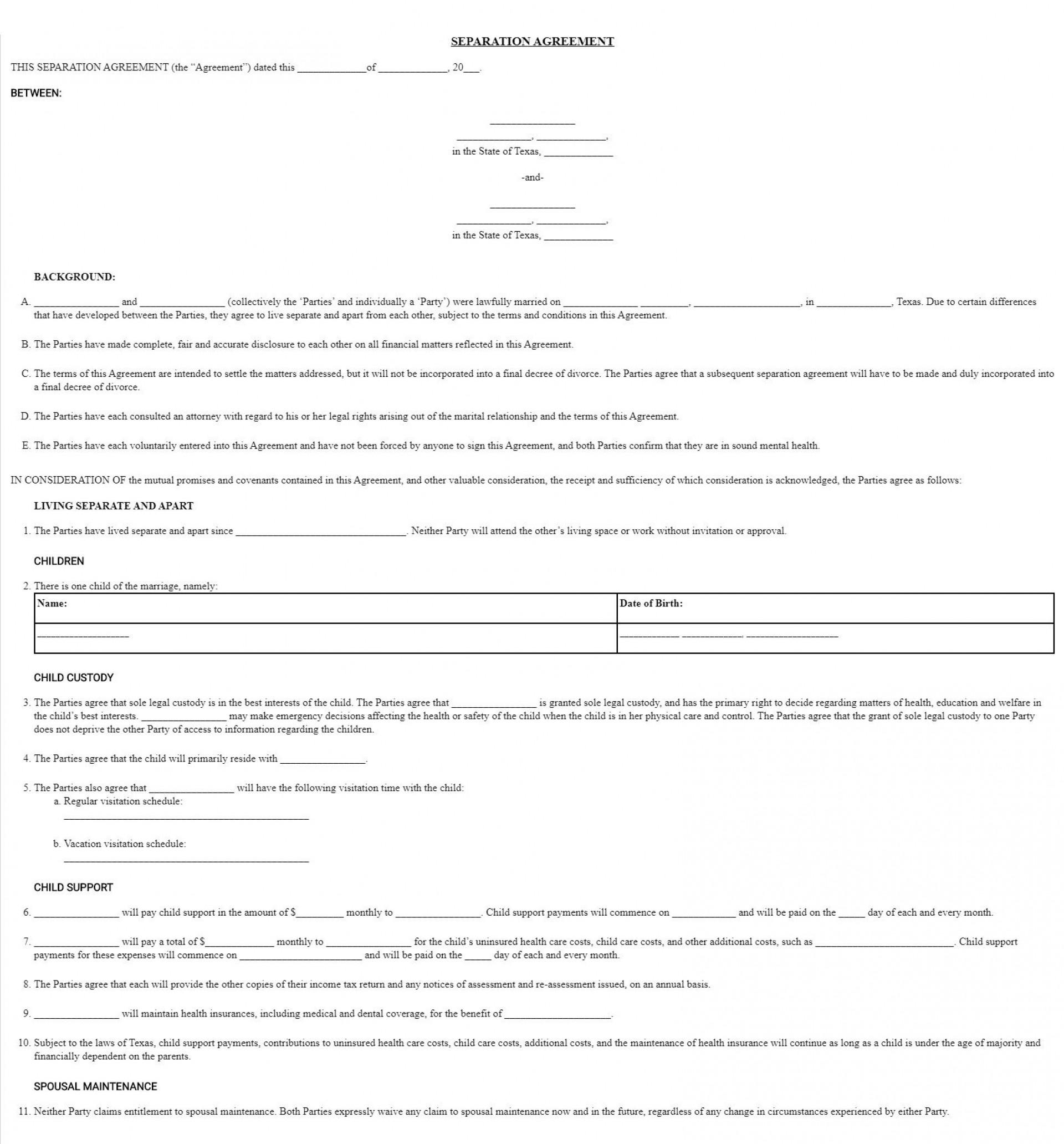 008 Frightening Divorce Settlement Agreement Template Highest Quality  Sample New York Marital Uk South Africa1920
