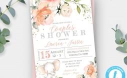 008 Frightening Elephant Girl Baby Shower Invitation Template Idea  Templates Pink