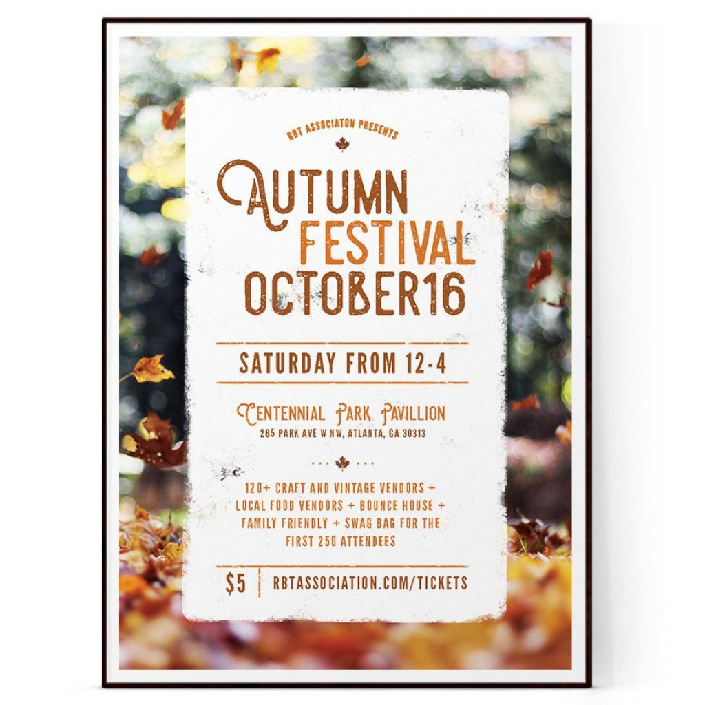 008 Frightening Fall Festival Flyer Template Picture  FreeLarge