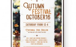 008 Frightening Fall Festival Flyer Template Picture  Free