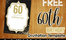 008 Frightening Free 60th Birthday Invitation Template Concept  Templates Surprise Download For Word Party
