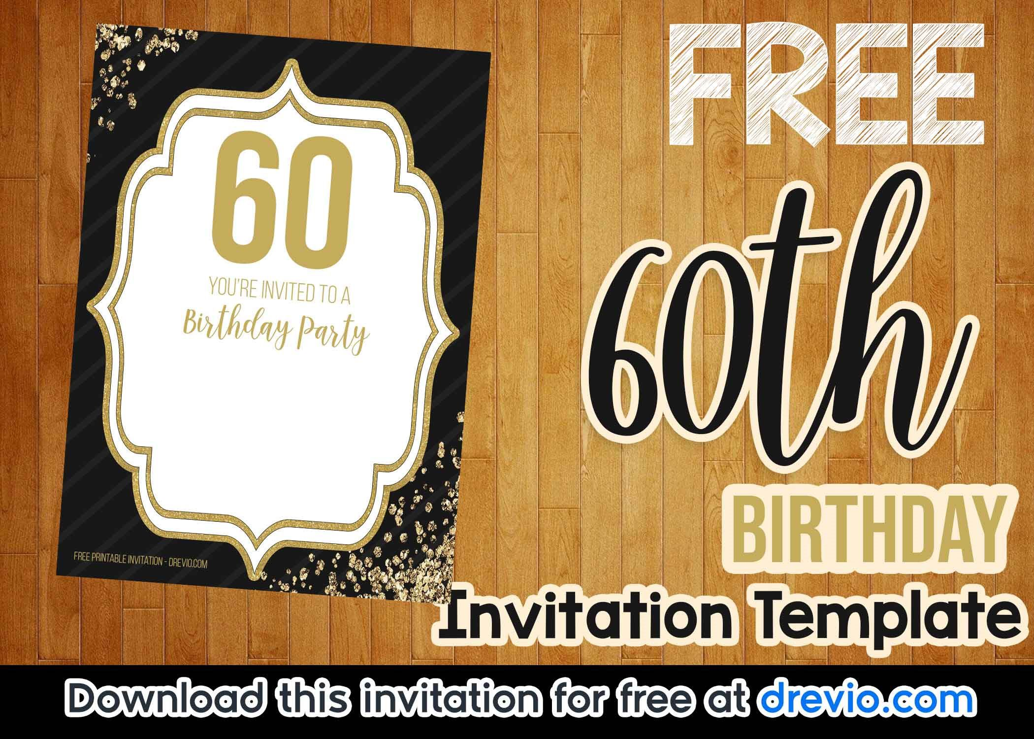 008 Frightening Free 60th Birthday Invitation Template Concept  Templates Surprise Download For Word PartyFull