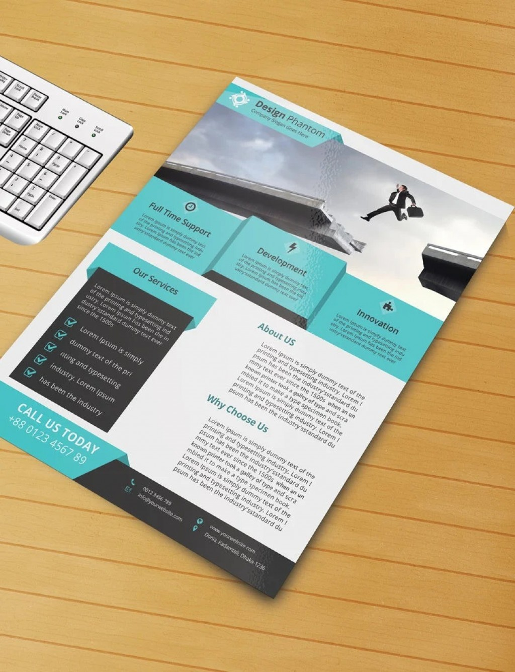 008 Frightening Free Download Flyer Template Highest Quality  Templates Blank Leaflet Word PsdLarge