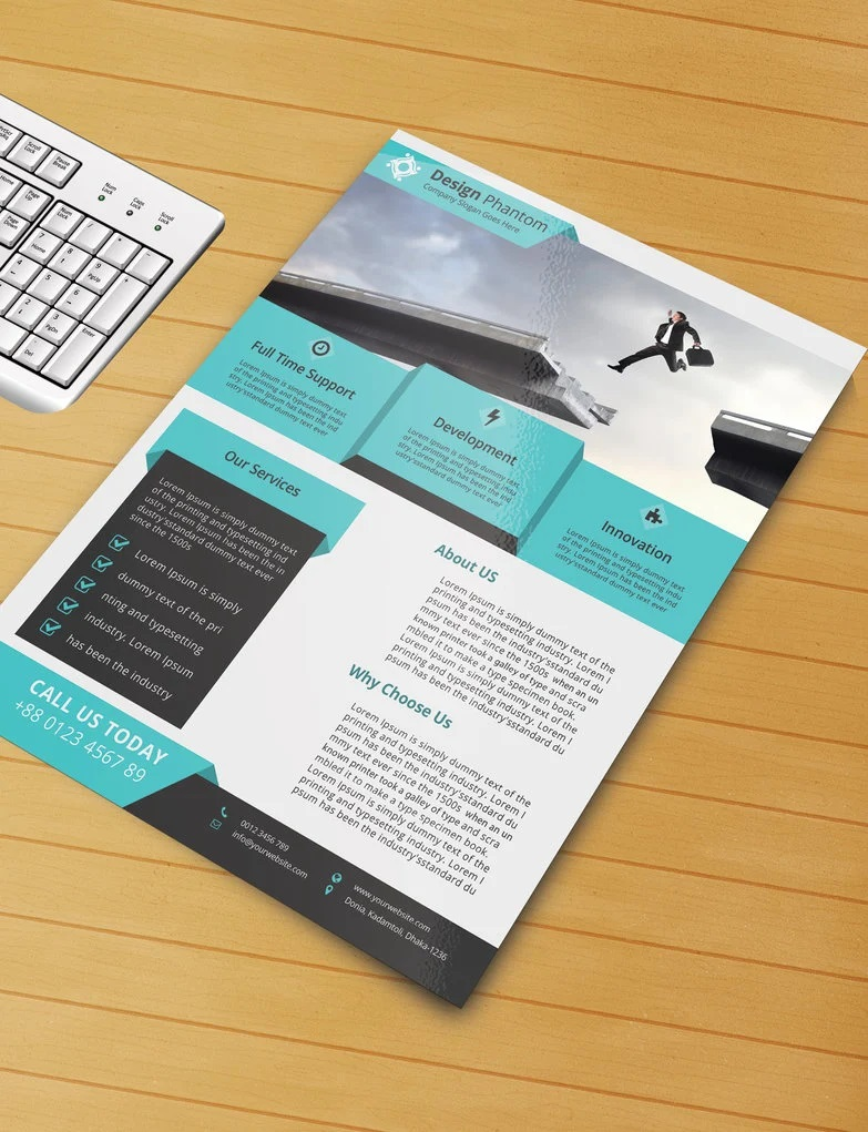 008 Frightening Free Download Flyer Template Highest Quality  Templates Blank Leaflet Word PsdFull