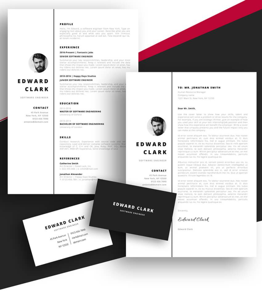 008 Frightening Free Resume Template For Page Highest Clarity  Pages Apple MacFull