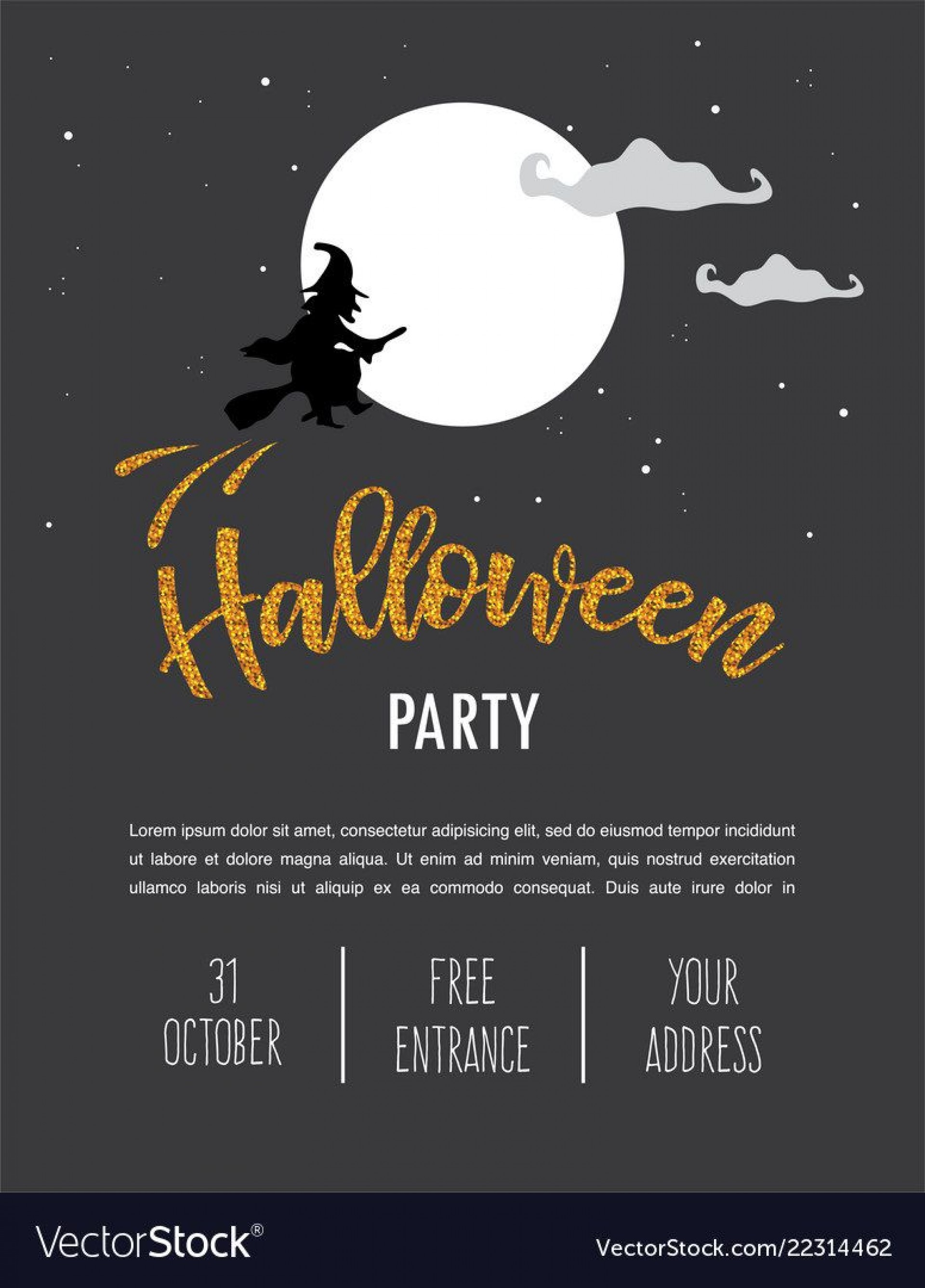 008 Frightening Halloween Party Invitation Template Highest Clarity  Templates Scary Spooky1920