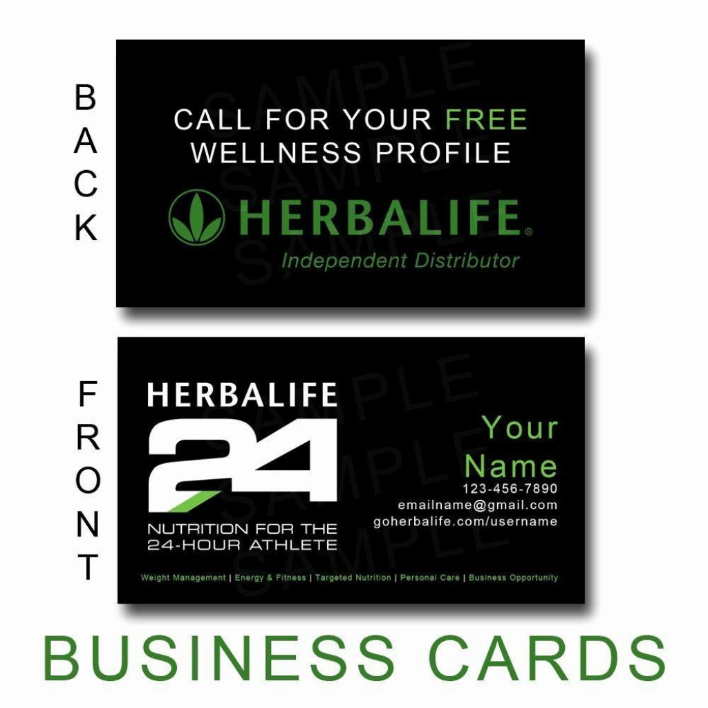 008 Frightening Herbalife Busines Card Template Inspiration  Download FreeLarge